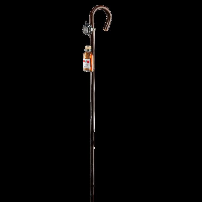 Bâton de marche avec sonnette et Schnaps
