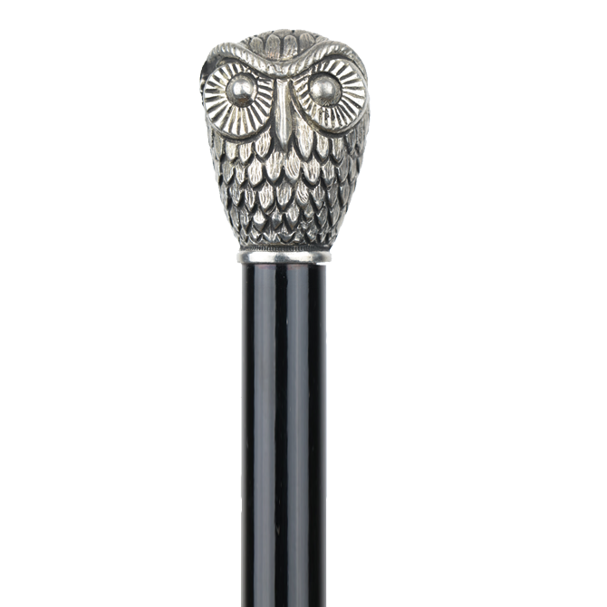 Canne luxe hibou