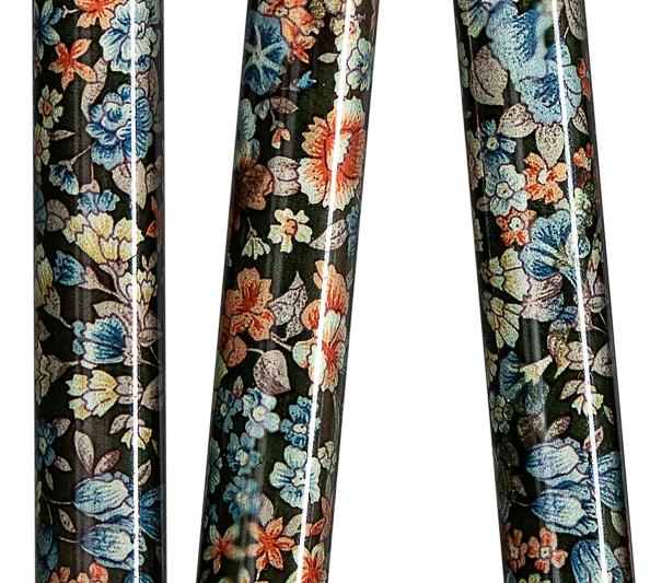 canne pliante motifs fleurs